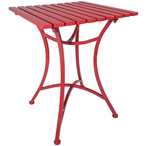 Cheap  Titan Outdoor Antique Red Metal End Table Porch Patio Garden Deck Decor..