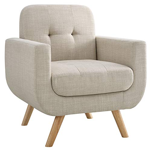 Millbury Home H4-BG Elena Modern Fabric Contemporaty Armchair Singer Sofa for Living Room Furniture, Cream