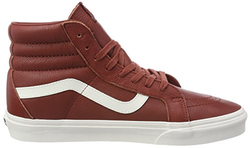 Hi Top Blanc burnthena Hi Sk8 Unisex Red Reissue Adults' Trainers Vans Leather wxpYU1XPqn