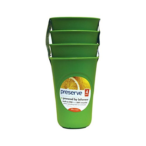 Preserve Everyday Cups Apple Green 4 Pack(S)