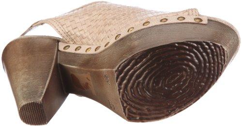 Bronx Regan 37 buckle black 83714-A1 - Zuecos de cuero para mujer Beige