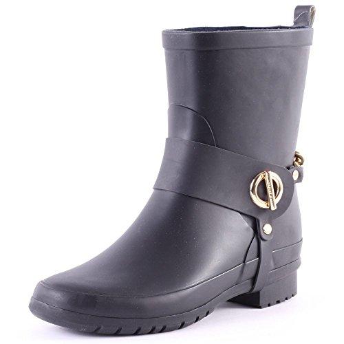 Boots Hilfiger Tommy Wellington Rubber Womens 37 Oana Black EU 3R 6Ydw6r