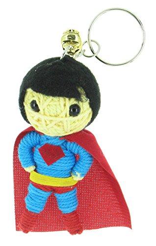 [Superman Voodoo String Doll Keyring Keychain] (Clark Kent Superman Costume Women)