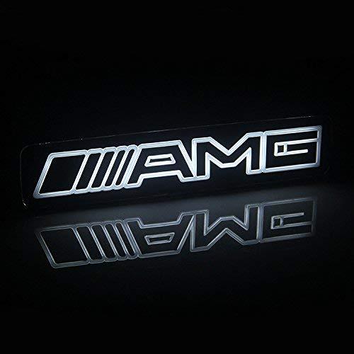 Bearfire Car Front Grilled Star Emblem LED Illuminated Logo Center Front Badge Lamp Light (Mercedes Benz AMG)
