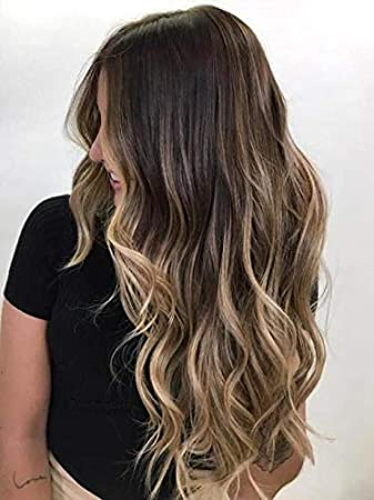 Amazon Com Sunny Eze Weft Hair Extensions Darkest Brown Fading To