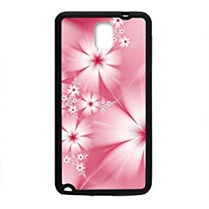 Flower Black Phone For SamSung Note 3 Case Cover