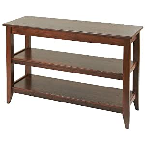 Manchester wood black mountain 48 console for Sofa table 70