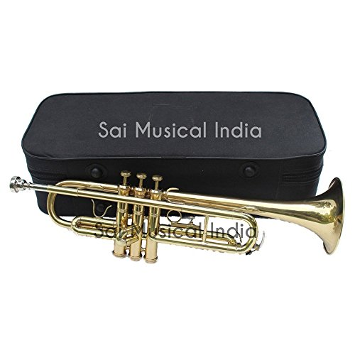 Queen Brass Top Grade Quality Bb Pitch Flat Brass Finishing Trumpet Along With A Mouthpiece MI 065 by Queen Brass