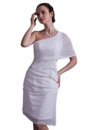 Hochzeitskleid moderne neue Abendkleid BRIDE kurze GEORGE Brautkleider leger Weiß Hochzeitskleider U7a4wR