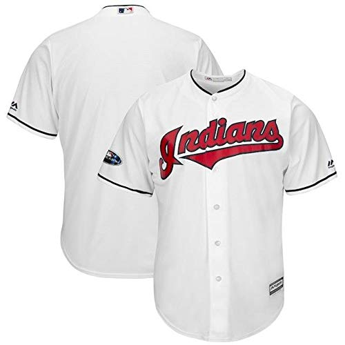 Majestic Majestic Cleveland Indians White 2018 Postseason Indians White Home Home Cool Base Team Jersey スポーツ用品【並行輸入品】 XL B07HJYXWX4, ルベシベチョウ:e3e60437 --- cgt-tbc.fr