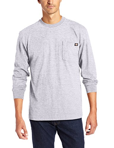 Dickies Men's Long Sleeve Heavyweight Crew Neck, Heather Gray, ()