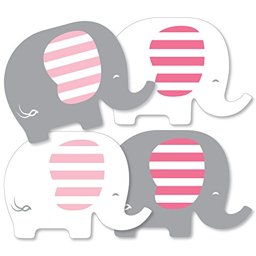 (Pink Elephant - Decorations DIY Girl Baby Shower or Birthday Party Essentials - Set of 20)