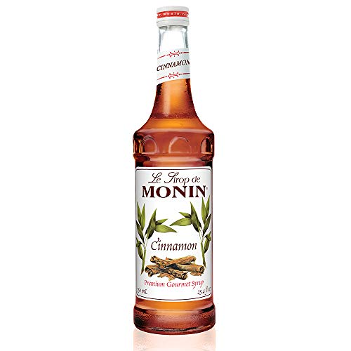 (Monin - Cinnamon Syrup, Sweet and Spicy Taste of Cinnamon, Versatile Flavor, Natural Flavors, Great for Coffees, Cocoas, Ciders, and Cocktails, Vegan, Non-GMO, Gluten-Free (750 ml))