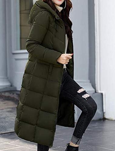 Mallimoda Donna Cappotto Lunga Giacche Piumino Parka Giacca con Cappuccio Autunno/Inverno Verde Esercito S