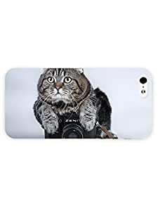 3d Full Wrap Case for iPhone 5/5s Animal Cat On The Camera