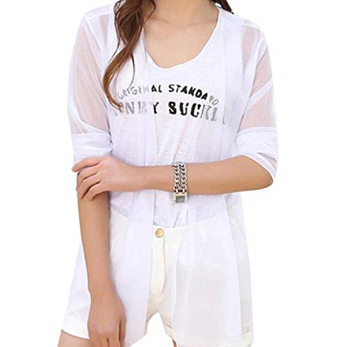 Vivi Summer Fit Women's Beachwear Sheer Swimsuit Cover-Ups White One-Size