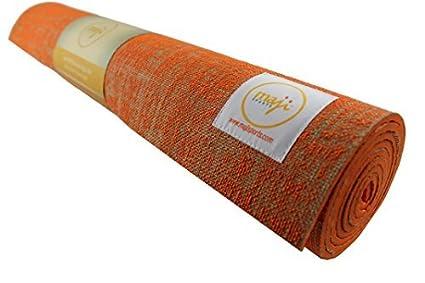 Amazon.com : Maji Sports Jute Yoga Mat (Size:24 x 72 x 5mm ...