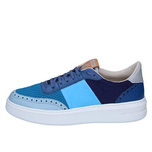 Sneakers Uomo Tessuto Brimarts Blu Pelle AXF66