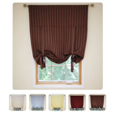Roll Up Shade Hotel Stripe Insulated Thermal Blackout