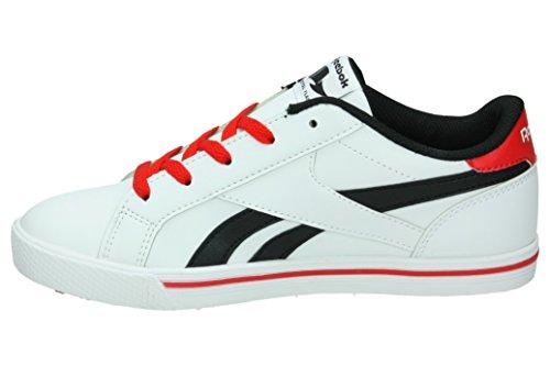 Reebok Bd2505, Zapatillas de Deporte Unisex Niños Blanco (White / Black / Red)