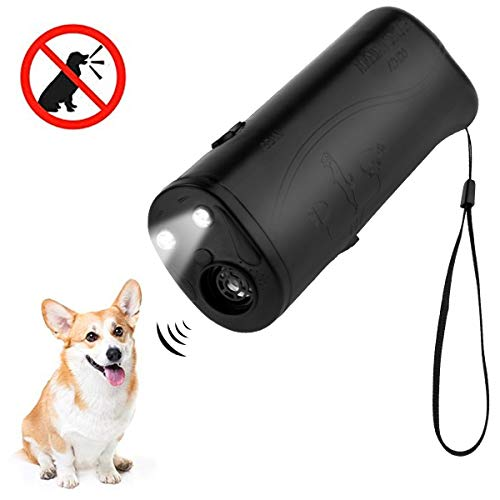 MEIREN Improved Handheld Dog Repellent & Trainer, Anti Barking Device & Ultrasonic Dog Training Aid with Control Range of 30 Ft