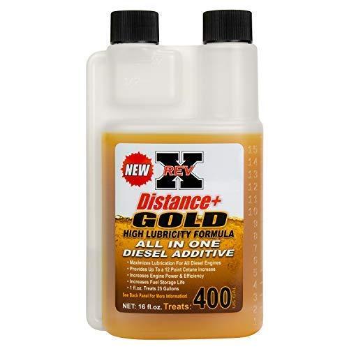 REV-X Distance Plus Gold Diesel Fuel Treatment for ULSD & BioDiesel (16 fl. oz. - 400 Gal.) by REV-X