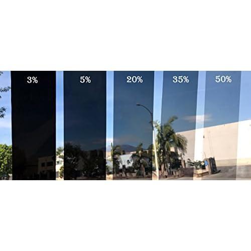 """Wimax Dark Smoke 20/% VLT 20/"""" In x 10/' Ft Feet Uncut Roll Window Tint Car Film"""