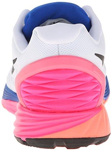 Nike Wmns Lunarglide 6 - Zapatillas para mujer Blanco / Azul / Rosa / Negro