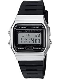 Casio Men's 'Classic' Quartz Metal and Resin Casual Watch, Color: Black (Model: F91WM-7ACF)