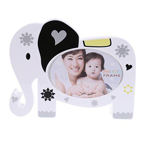 Jili Online Elephant Photo Frame Coin Saving Box Baby Shower Kids Birthday Party Gift (Elephant Set Coin)
