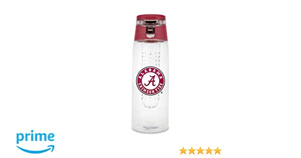 NCAA Alabama Crimson Tide 20oz Plastic Infuser Sport Bottle