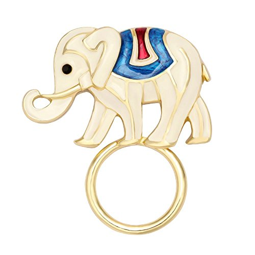 TUSHUO Gold Plating Elephant Eyeglass Holder Perfect Gift Magnetic - That Eyeglasses Places Fix