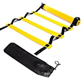 CHRISTYZHANG Agility Ladder - Durable Training Hippibela Ladders for Soccer, Speed, Football with Carrying Bag