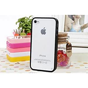 LCJ Transparent Back Design Silicone Soft Case for iPhone 5/5s (Assorted Colors) , Black