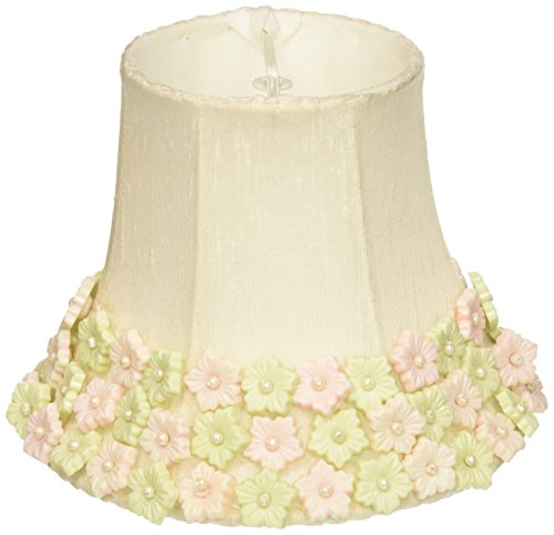 Jubilee Collection 2253 Flower Border Chandelier Shade, Pink/Green