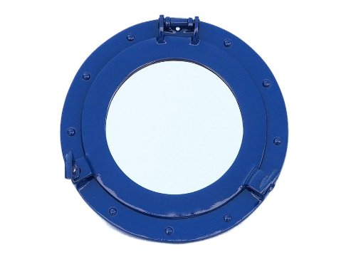 Hampton Nautical  Deluxe Class Brass Porthole Mirror, 12