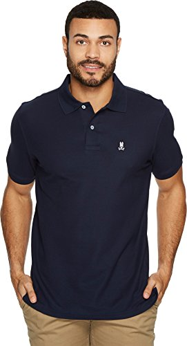 Psycho Bunny Men's Classic Polo Navy 3