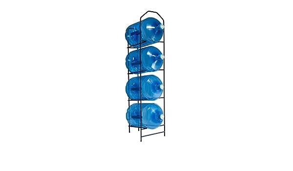 dispensador agua org Botellero metálico Capacidad para almacenar hasta 4 botellones,Estanteria Negra, estanteria para Botellas, estanteria botellones, ...