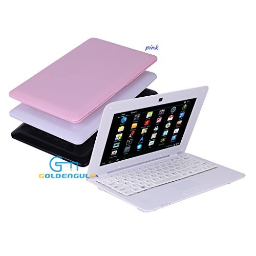 "Goldengulf 10"" inch Pink Mini Android Computer Laptop Netbook with Optical Mouse WiFi 3G Camera, Best Gift for Girl from Goldengulf"