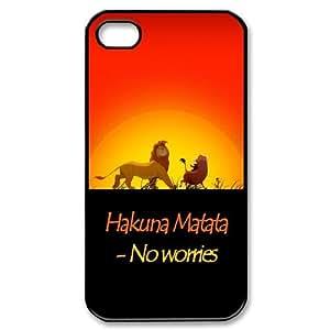 Unique Phone Case Design 2Hakuna Matata Quotes - No Worries - For Iphone 4 4S case cover