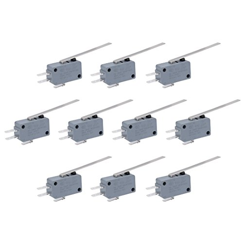 - Uxcell 10pcs G5T16-E1Z200A03 SPDT 1NO 1NC Long Straight Hinge Lever Momentary Actuator Micro Switch