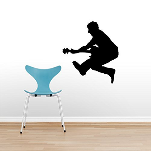 Jumping Guitar Player - Wall Decals