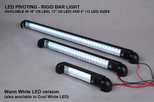Led Bar Light Pivoting Water Proof 18 Quot Lamp 12 Volt