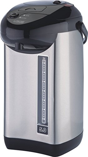 ProChef M PC7060 Electric Hot Urn, Stainless Steel, 5-Quart, Double Power Pump, Manual Water Dispenser, Safety Lock, Reboil and Keep Warm Options ()