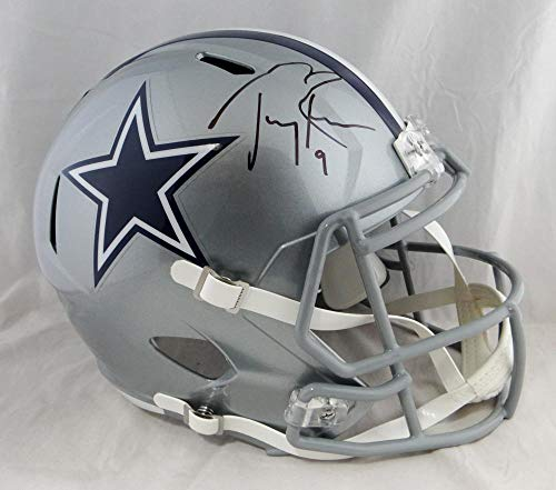 (Tony Romo Autographed Dallas Cowboys F/S Speed Helmet- Beckett Auth Black)