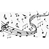 Musical Notes Wall Vinyl Decal - 24 X 14 Inches