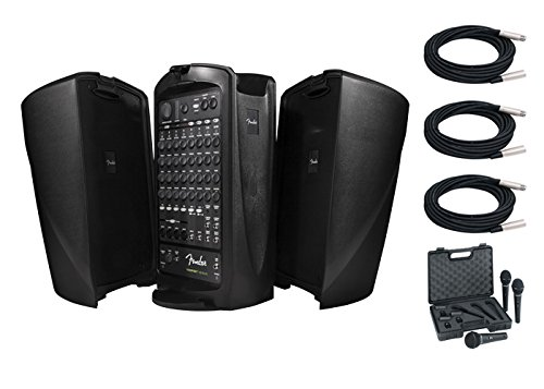 Fender Passport Venue PA System Bundle With Free Behringer Ultravoice XM1800S Dynamic Cardioid Vocal Microphone Three Pack and Three 20FT XLR Microphone Cables