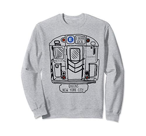 New York City Subway Queens E Train Sweatshirt -