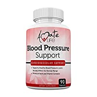 Lower Blood Pressure Health Formula - Natural Blood Pressure Pills Supplement with Hawthorne, Garlic, Hibiscus & Olive Leaf- Heart Health Supplements for High Blood Pressure 90 Capsules by Amate Life