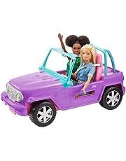 Barbie GMT46 - Beach Jeep in paars, voertuig met ruimte voor 2 poppen, poppenaccessoires, speelgoed vanaf 3 jaar